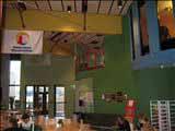 Här var det restaurang och en gemensam mötesplats. Ser inte riktigt ut så idag då förutsättningarna har förändrats.