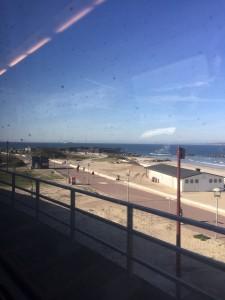 Från tåget på morgonen. Det var verkligen en härlig dag med massor av sol!